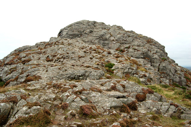 The last few yards up to Carn Llidi summit