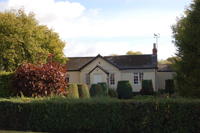 Chartist bungalow on the A417 at Snig's End, Gloucestershire