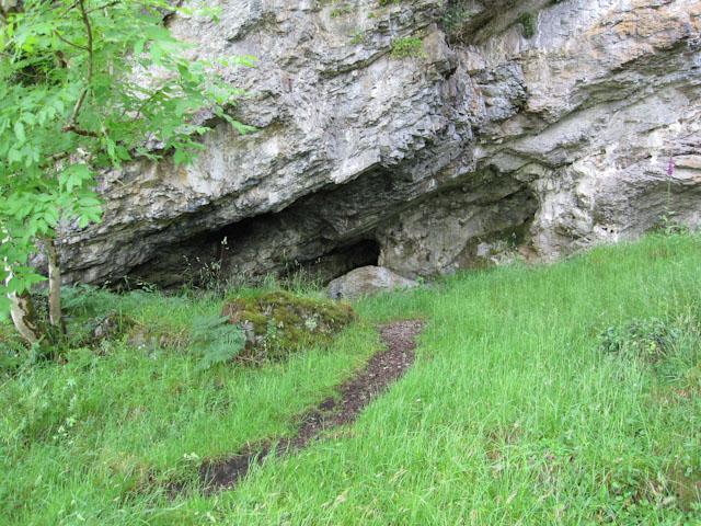 Raised sea cave