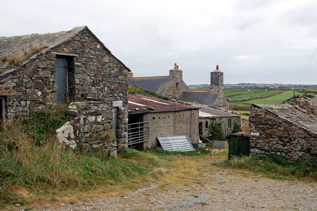 Buildings at Upper Porthmawr Farm, Whitesands Bay (1)