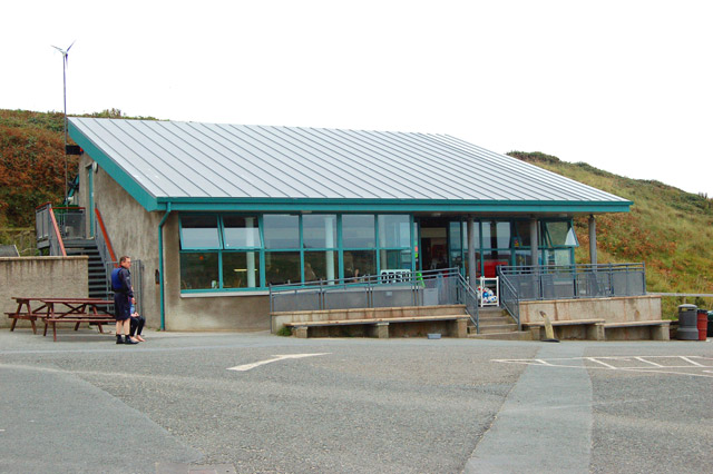 Beach cafe at Whitesands Bay