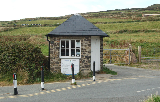 Carpark attendant's cabin, Whitesands Bay