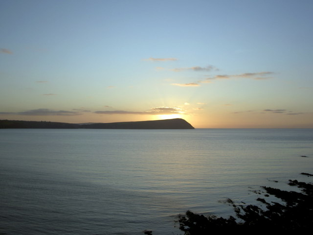 Dinas Head from coast above Newport