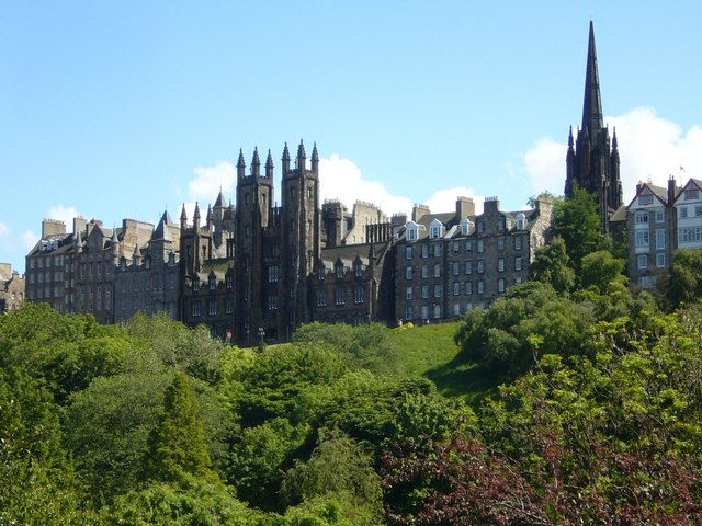 New College from Princes Street Gardens