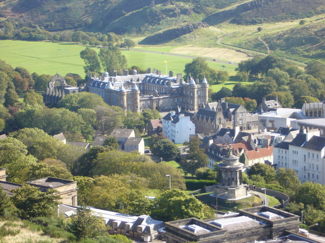 Holyrood Palace from the Calton Hill