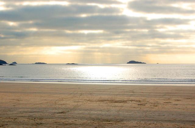 Sunset from Whitesands Bay beach