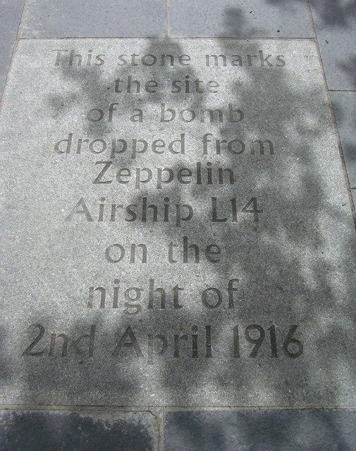 Zeppelin flagstone, Grassmarket