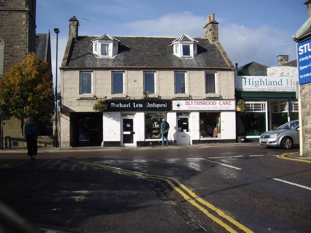 High Street shops, Forres