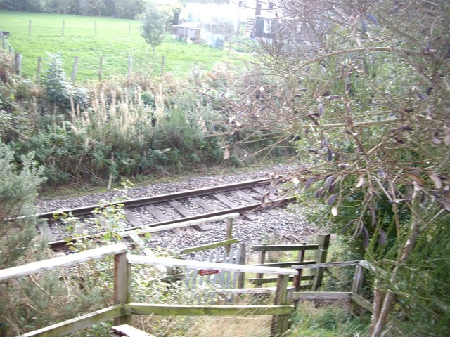 Steps to railway track