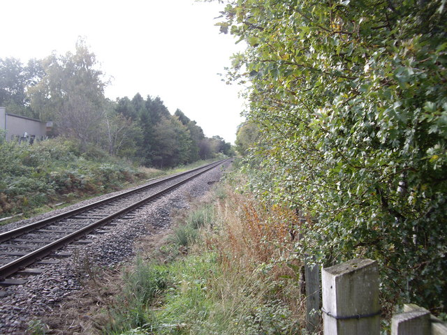 Rail track from Forres to Inverness