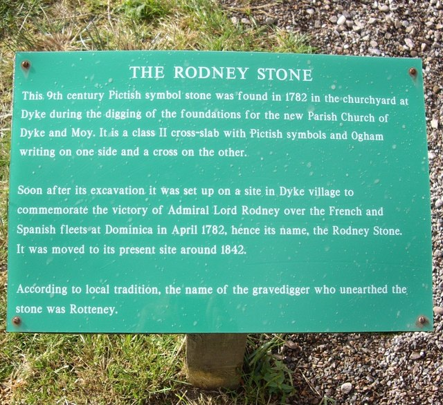 The Rodney Stone information board