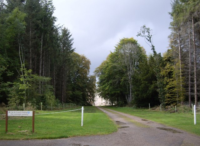 Driveway to Brodie Castle