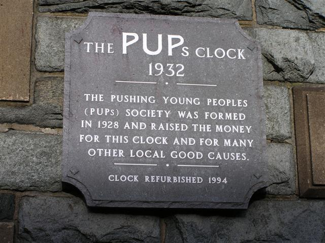 Inscription stone, PUPs Clock