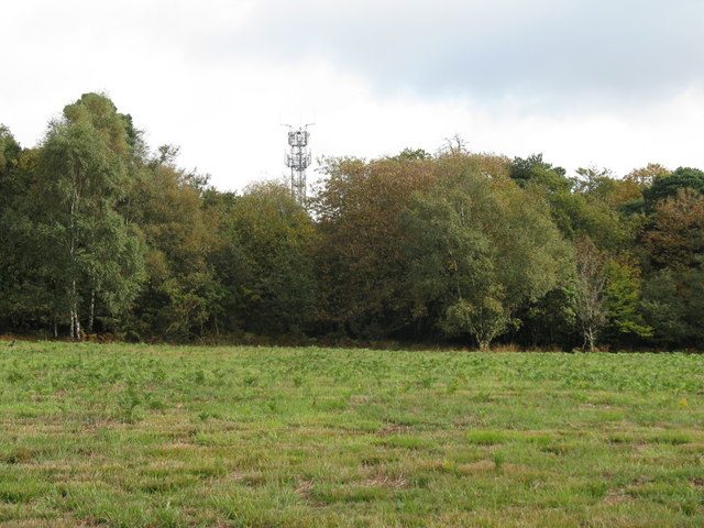 Communications mast on the NE side of the A22