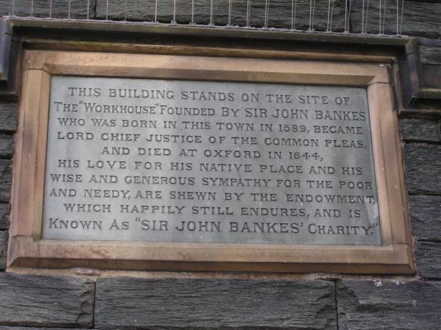Plaque, Site of the Workhouse, Keswick