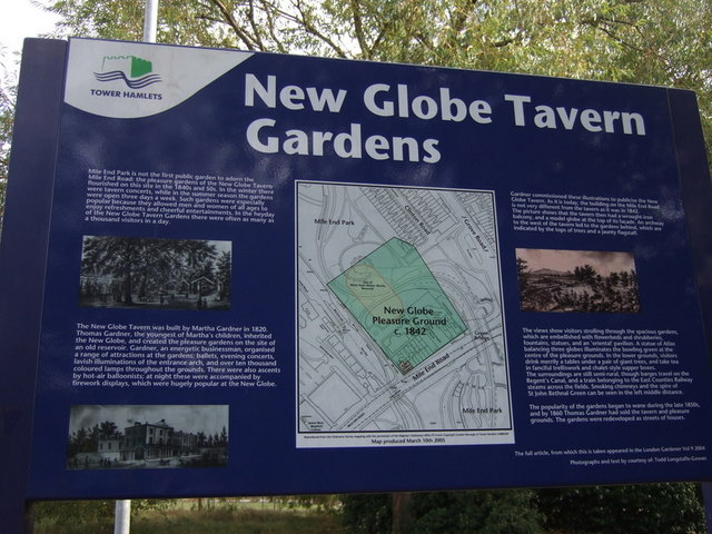 New Globe Tavern Gardens information board (1)