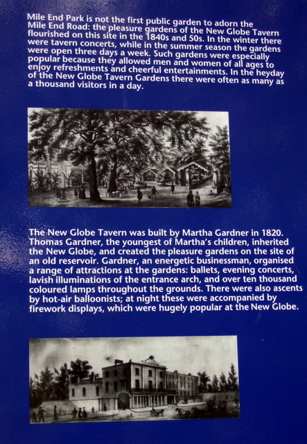 New Globe Tavern Gardens information board (2)