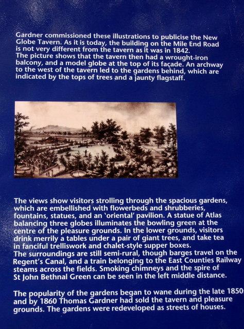 New Globe Tavern Gardens information board (3)