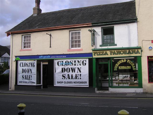 Closing down / Pizza Panorama, Keswick