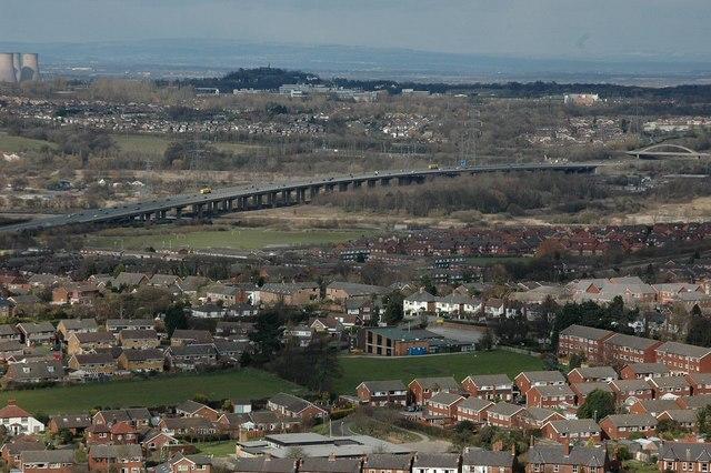 M56 motorway viaduct