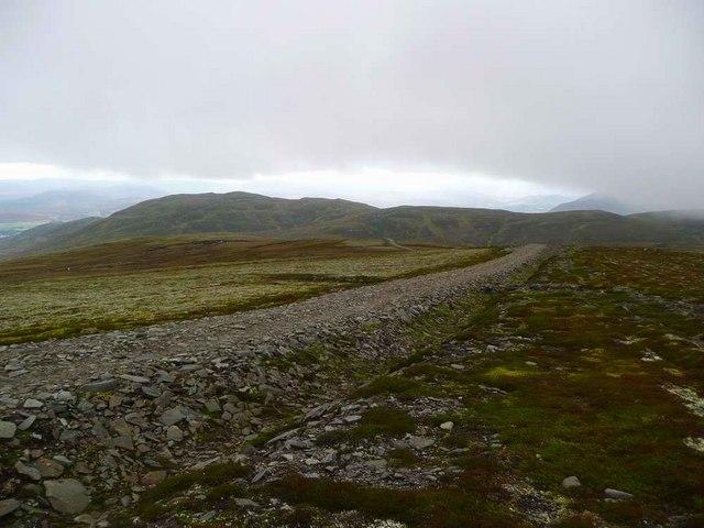 Track descending from Carn an Fhreiceadain to the Allt Mor