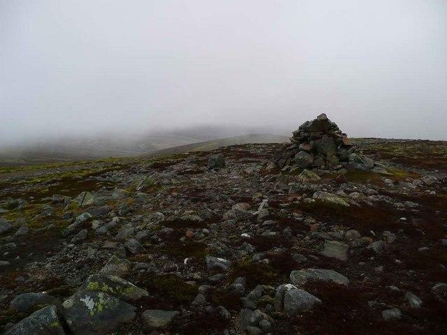 Summit cairn on Beinn Bhreac
