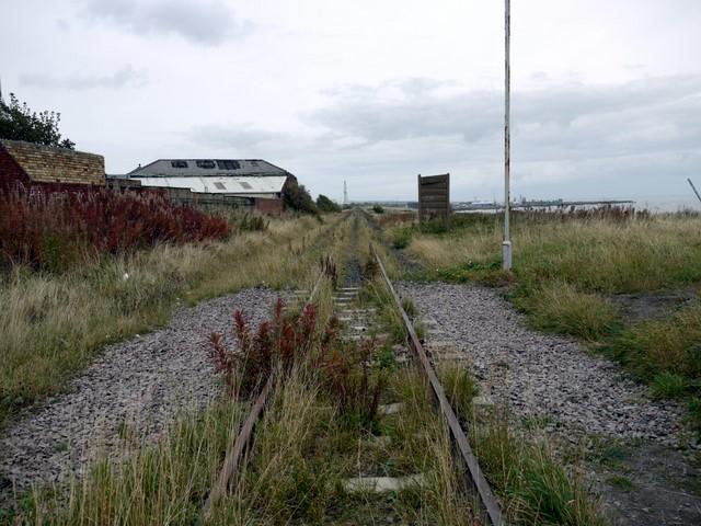 Disused railway, Grangetown - view north
