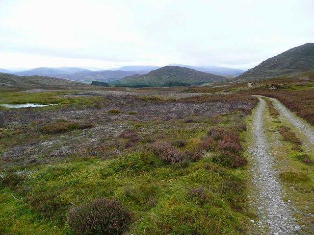 The track from Pitlmain Lodge to Beinn Bhreac