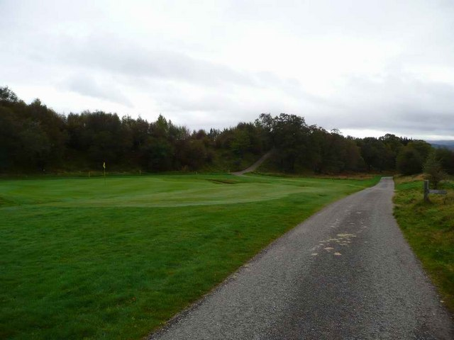 Trackside green at Kingussie Golf Course