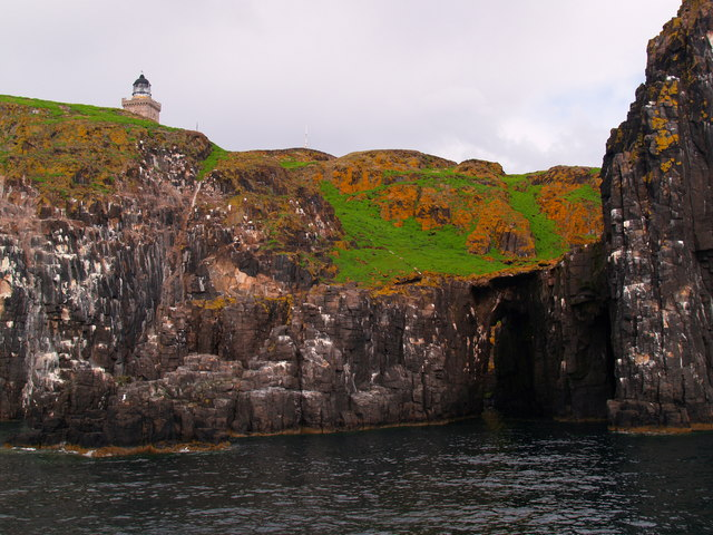 Cliffs with Arch below the Lighthouse Isle of May