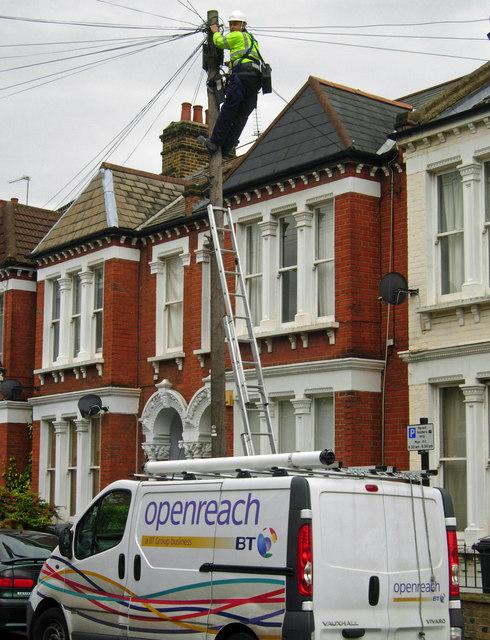 Telephone repairs on Edgeley Road