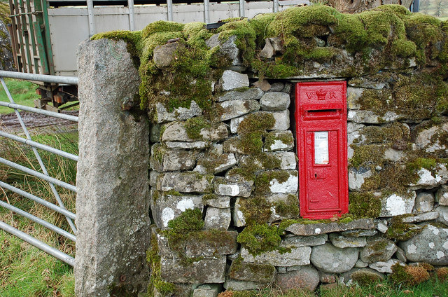 Victorian postbox, Wet Sleddale