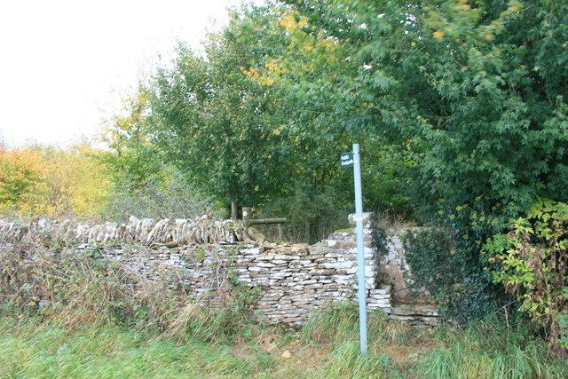 Footpath near Southrop