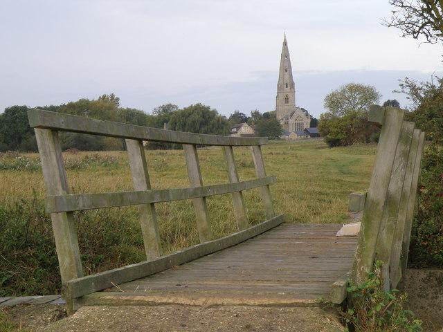 Bridge on the flood meadow at Olney