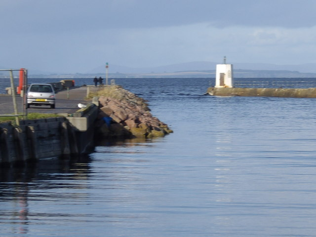 Piers at the mouth of the River Nairn