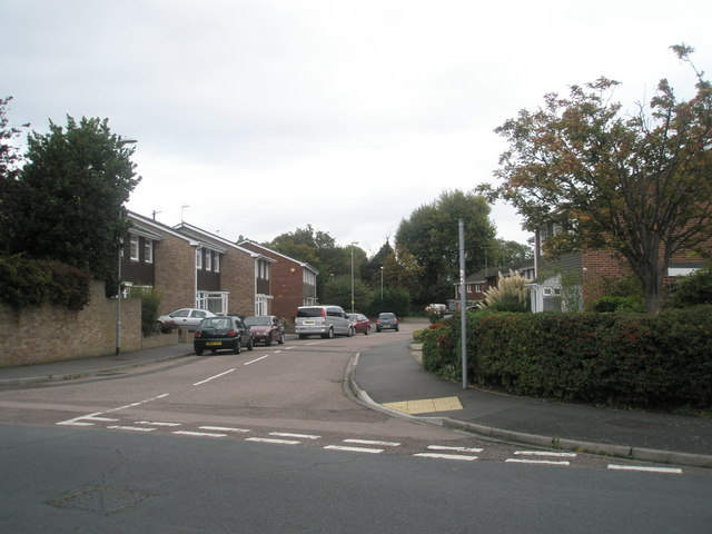 Looking from The Ridings down Egan Close