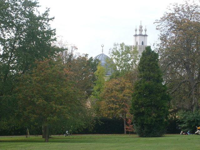 Oxford Centre for Islamic Studies from Headington Hill Park