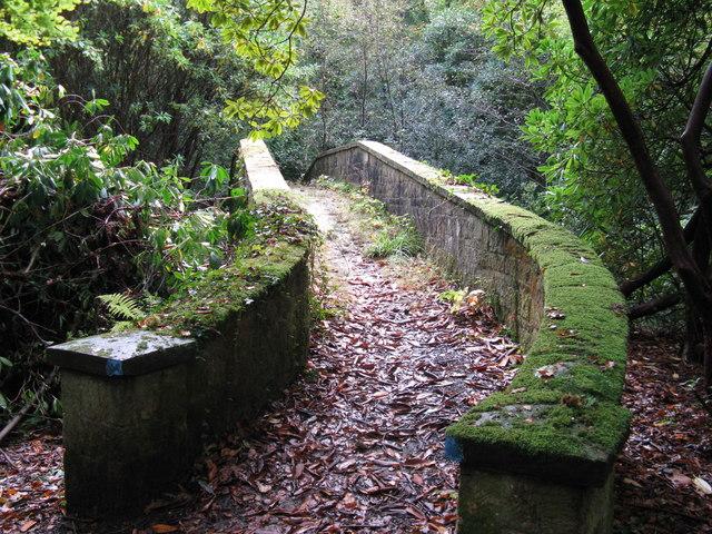 Gentle rise on northern end of footbridge