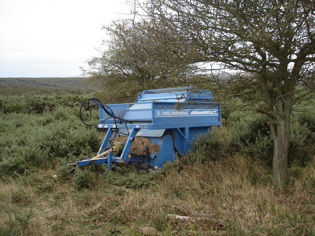 Agricultural machinery on Lullington Heath