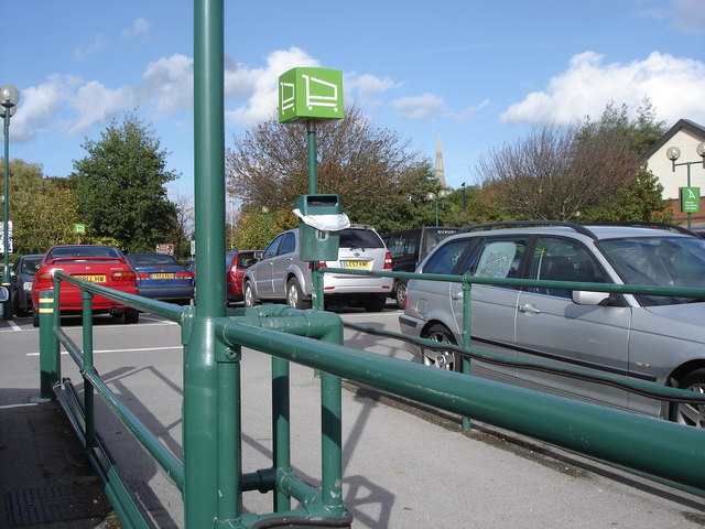 Waitrose car park - cathedral spire in the distance