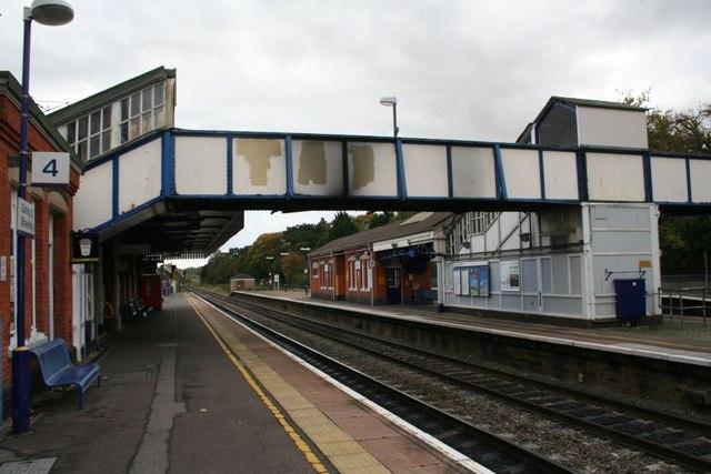Footbridge over the line
