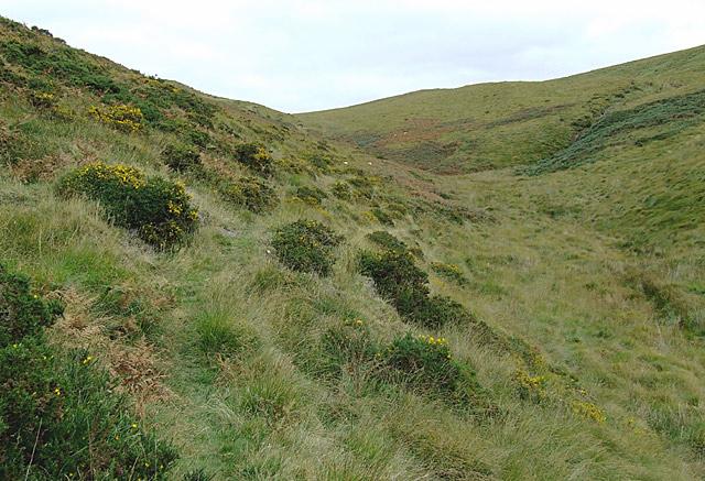 Bridleway near the head of Cwm Gwrach, Powys