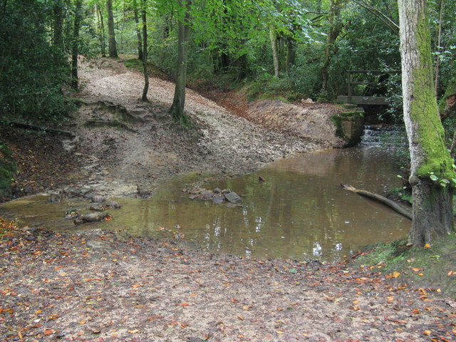 Ford on bridleway to Chelwood Gate
