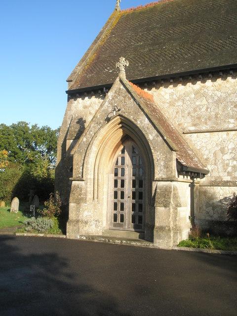 The church porch at St John the Baptist, Greatham