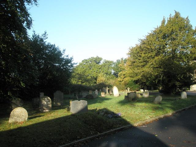 Shadows in the churchyard at St John the Baptist, Greatham