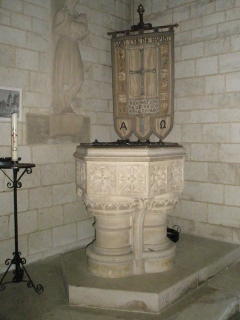 The font at St John the Baptist, Greatham