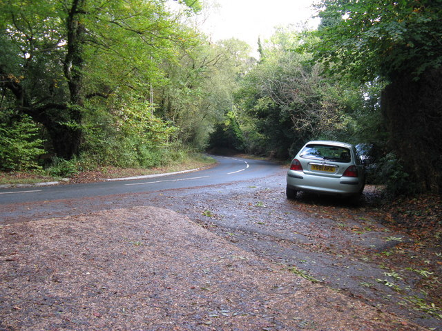 Bend in road at Chelwood Corner