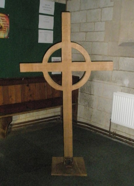 Simple cross within St John the Baptist, Greatham