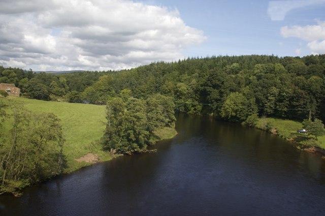 River Eden from the Settle Carlisle rail bridge