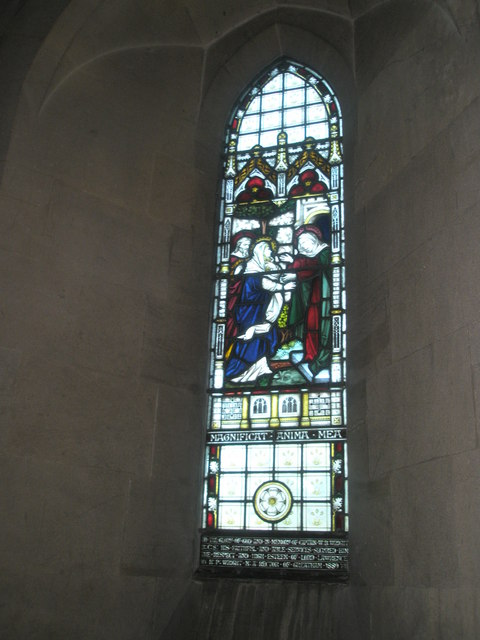 Stained glass window on the north wall at St John the Baptist, Greatham (2)